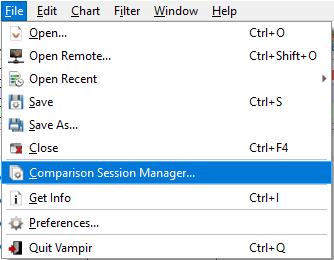 Vampir Window menu entries